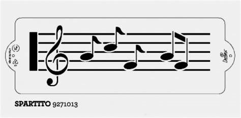 note musicali in lettere stencil spartito con note musicali decora
