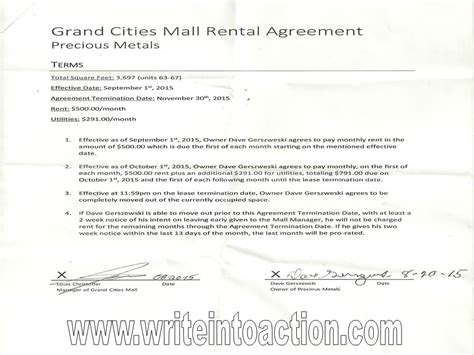 Letter Of Intent For Lease Space In Mall Church Grand Forks