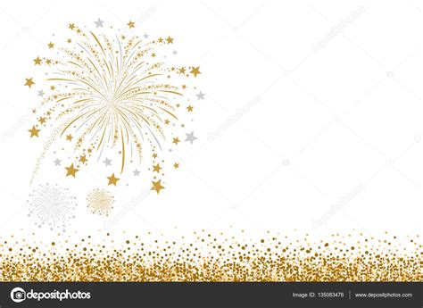 Vector Silver White vector gold and silver firework design on white background