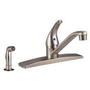rv kitchen faucet df nmk600sp sn satin nickel single lever rv kitchen dura faucet w side spray