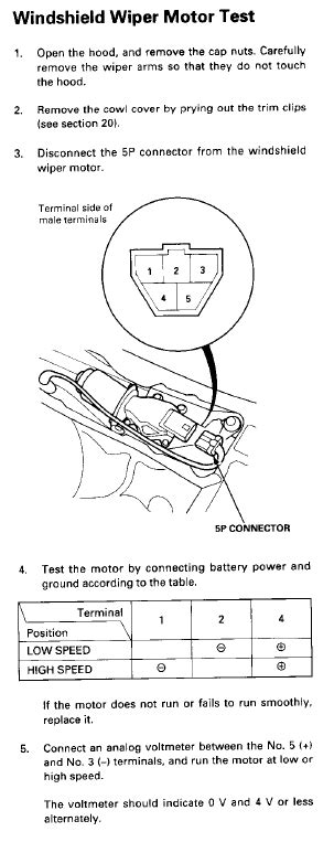 wiper motor wiring question honda tech