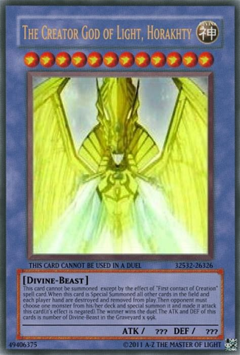 Creator God Of Light Horakhty by Image The Creator God Of Light Horakhty Jpg Yu Gi Oh
