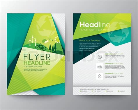flyer design wiki abstract triangle brochure flyer design vector template in