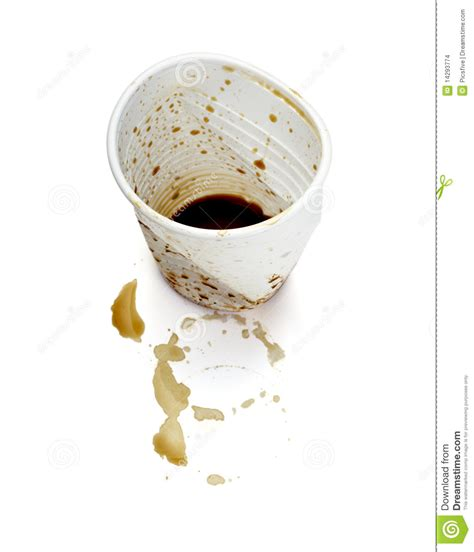 Empty Plastic Coffee Cup Drink Stock Images   Image: 14293774