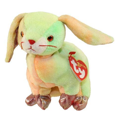 zodiac beanie babies ty beanie baby the rabbit chinese zodiac 6 5 inch
