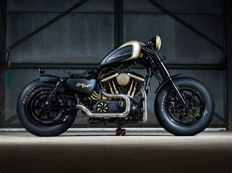 by brock cardiner harley forty eight custom motorcycle by rough crafts forty eight bobber by maidstone h d the badass forty