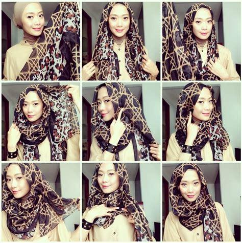Cara Memakai Jilbab Segi Empat Sederhana cara memakai jilbab segi empat sederhana dan simpel