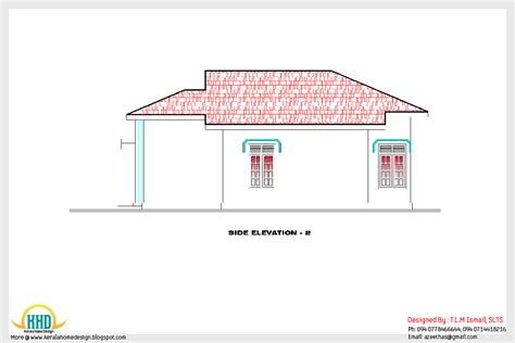 side elevation 1200 square feet home plan and elevation kerala home