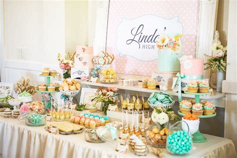 bridal shower table decoration ideas party fiestar