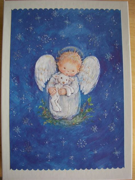 hallmark christmas card  mary hamilton angel illustration christmas angels angel