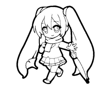 imagenes de hatsune miku kawaii para colorear hatsune miku coloring page coloringcrew com
