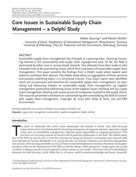 green supply chain management research paper issues in sustainable supply chain pdf