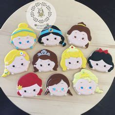 Disney Tsum Tsum Cookies Keychain Set Of 40 tsum ysum princess cookies princess cakes cupcakes and cookies princess cookies