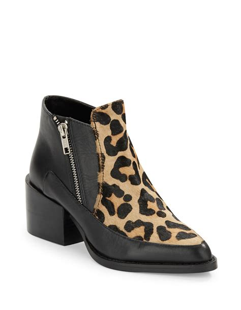 design lab boots lord and taylor lyst lord taylor druria leopard print boots in black