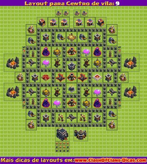 layout vila nivel 9 clash of clans melhores layouts para clash of clans centro de vila n 237 vel