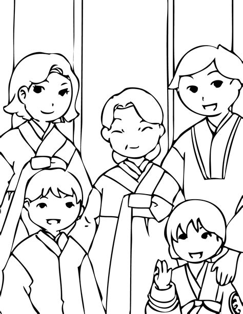coloring book korea korean new year coloring page handipoints