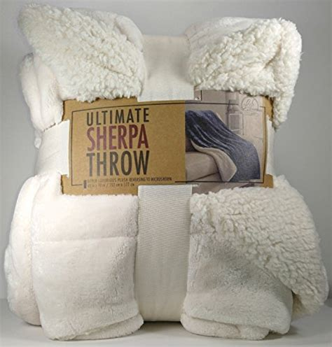 life comfort sherpa throw life comfort ultimate sherpa throw blanket ivory white