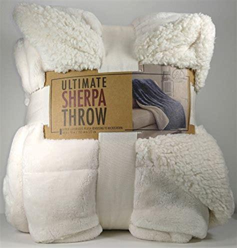 life comfort sherpa throw life comfort ultimate sherpa throw blanket ivory white