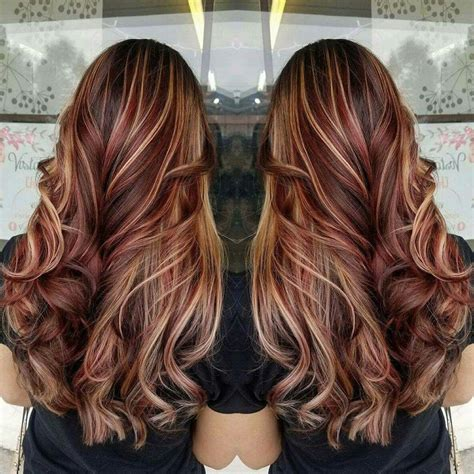 hairstyles blonde and red highlights 60 brilliant brown hair with red highlights