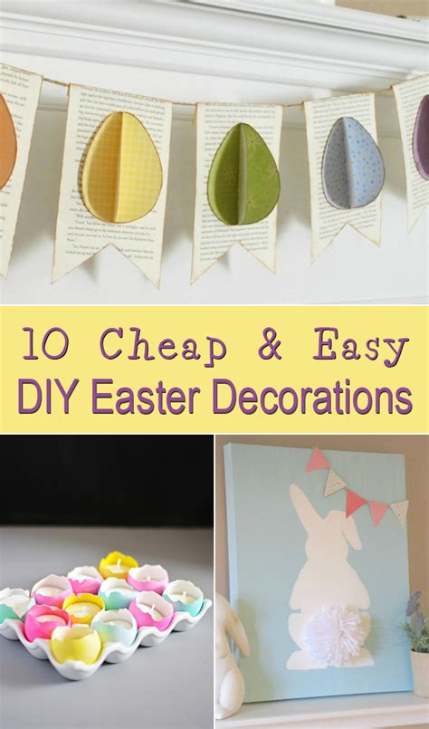 10 cheap easy diy easter decorations