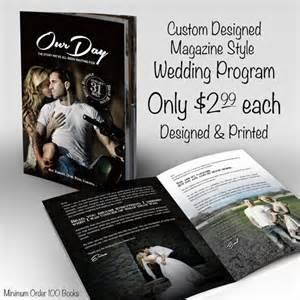 magazine wedding programs wedding style magazine wedding programs