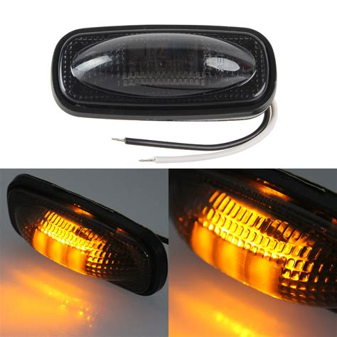 led lights clearance 2pcs yellow car waterproof side marker light truck