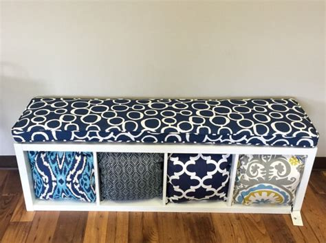 expedit bench cushion ikea kallax custom cushion playroom nursery organization