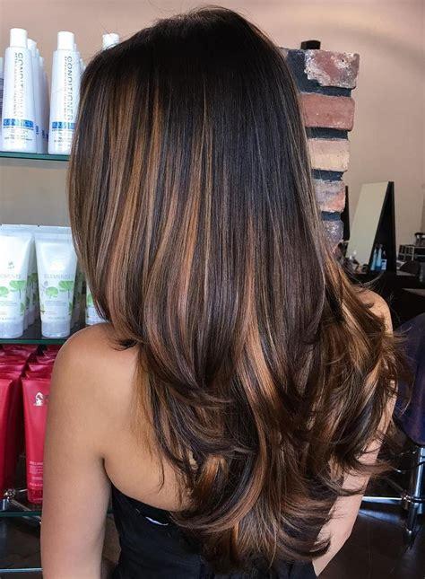 highlight colors for black hair 70 flattering balayage hair color ideas balayage