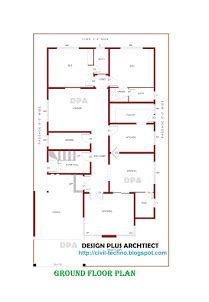 elevation and plan for 37 60 ft land home plans in pakistan home decor architect designer
