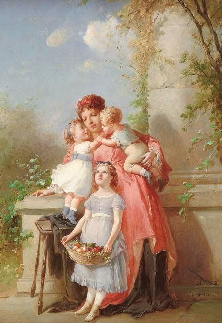 graphic beautiful painting  mother  children  graphics fairy