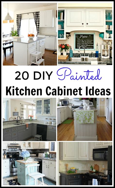 Diy Painting Kitchen Cabinets Ideas 20 Diy Painted Kichen Cabinet Ideas