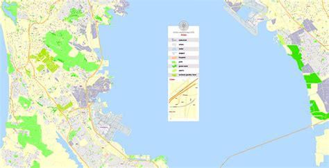 san francisco map vector free san francisco printable map california us exact vector