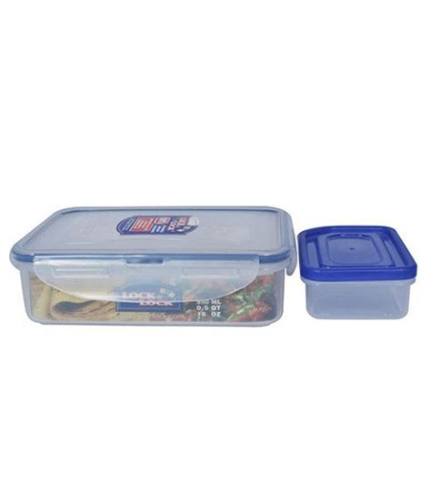 Promo Lock N Lock Container Tempat Makan Classic Gift Set lock lock classic polypropylene pp rectangular food container with sauce container and leak