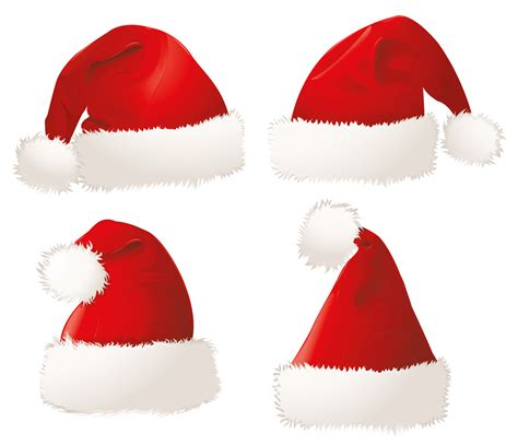 christmas santa hats png clipart picture gallery