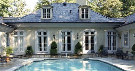 french country windows stucco french pavilion style french country pool pavilion