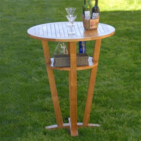 Outdoor Patio Bar Table Weber Teak Outdoor Bar Table