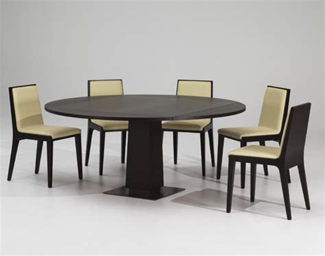 modern expandable dining table with wooden finish