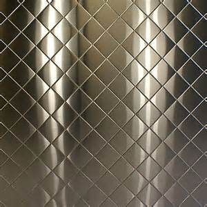 quilted stainless steel backsplash 304 quilted brushed stainless steel sheet 24 ga 024 quot x 24
