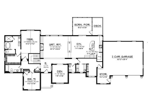1 story with basement house plans 1 story house