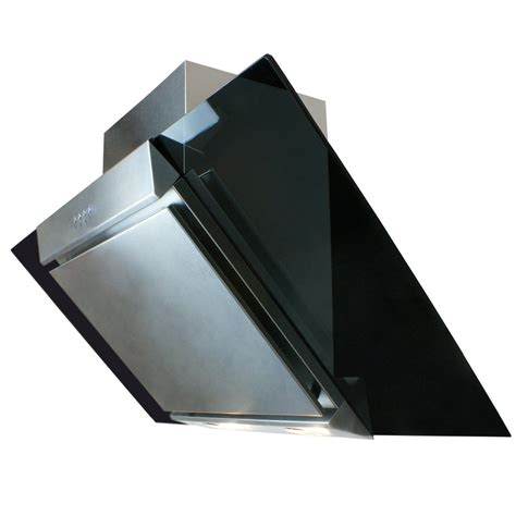 Designer Kitchen Extractor Fans Cooker Hood 90cm Angled Extractor Chimney Hood Glass