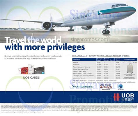 Cathay Pacific Gift Card - cathay pacific airfares 27 sep 2015 187 cathay pacific fr 218 promo fares for uob