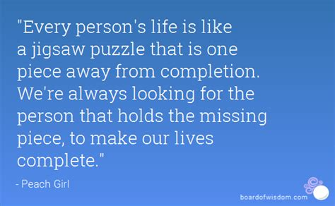 we love jigsaw puzzles the missing piece puzzle company quot every person s life is like a jigsaw puzzle that is one