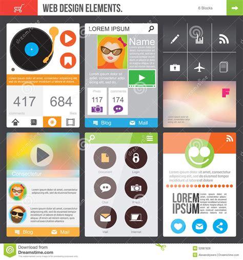 app layout elements flat web design elements royalty free stock photos image