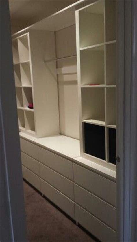 ikea walk in closet hack ikea malm dresser kallax custom walk in closet