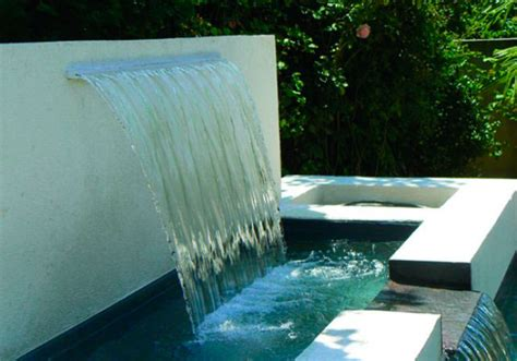 pool waterfall weir