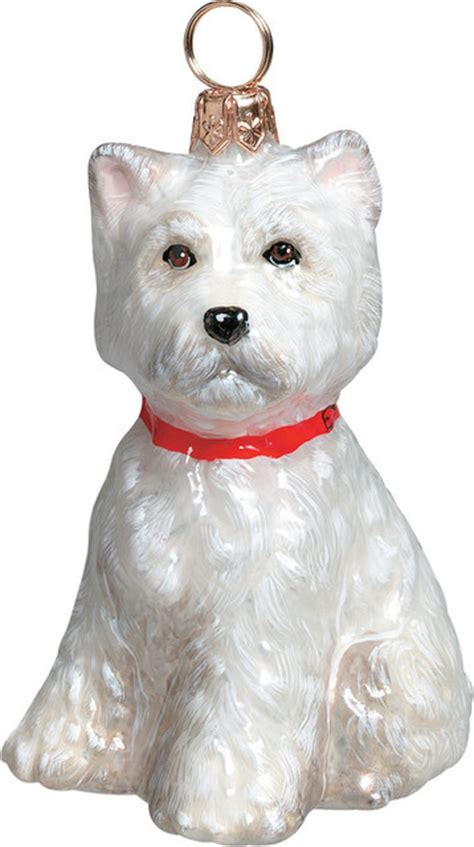 westie puppy ornament christmas ornaments by joy to