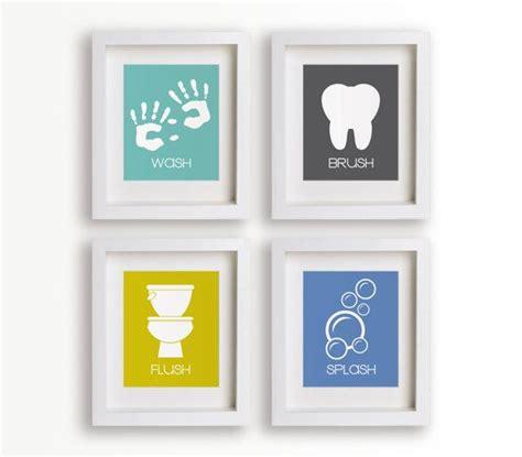 Bathroom Prints by Bathroom Manners Set Of Four Bathroom Decor Prints