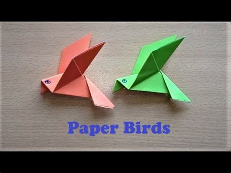 How To Make Paper Flapping Bird - how to make paper bird origami flapping birds paper bird