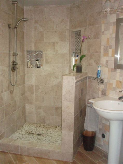 small walk  tile shower images  pinterest