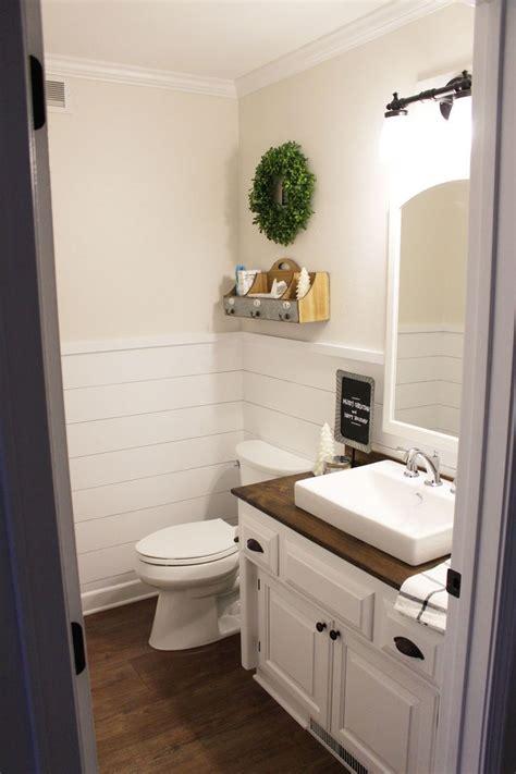 Wainscoting Half Bath by Shiplap Wainscoting In Our Half Bathroom Board Batten